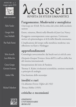 Modernità e Metafisica - Leussein Rivista di studi umanistici anno III, n. 2