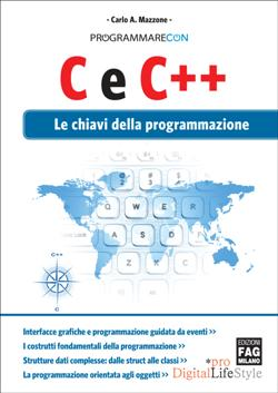 Programmare con C e C++. Le chiavi della programmazione