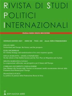 Rivista di studi politici internazionali (2021)