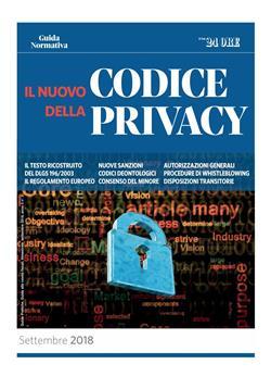 Il nuovo codice della privacy 2018