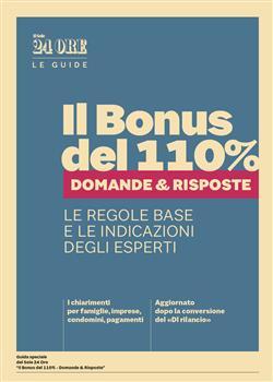 Il bonus del 110% - domande e risposte