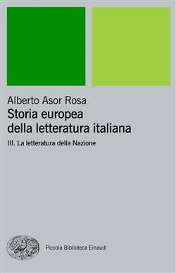 Storia europea della letteratura italiana III